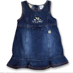 Disney Girls (Toddler) Blue Jean Dress Jumper 4T